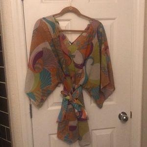 Anthropologie sheer dress/kimono